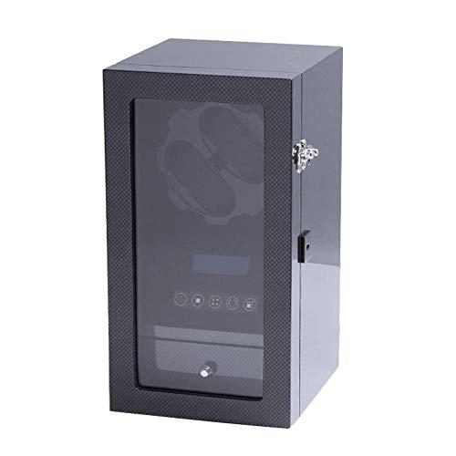 Sunmong Scatola avvolgitore Automatico per Orologio, Display LCD, Motore Silenzioso, modalità 5 TDP, Custodia per Orologio con Finitura in Fibra di Carbonio (Colore: Vernice in Fibra di Carbonio)