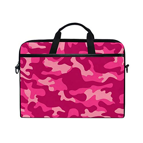 GIGIJY Pink Camo Laptop Case Bag Canvas Briefcase 13 in 13.3 in 14 in 15 in for Kids Boys Girls Women Men