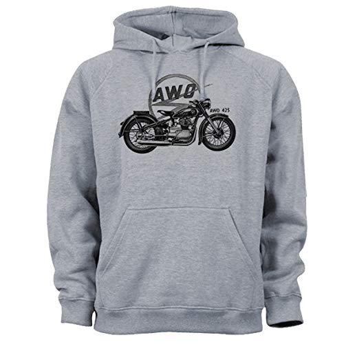 Tex-Ha AWO motorfiets grijs hoodie