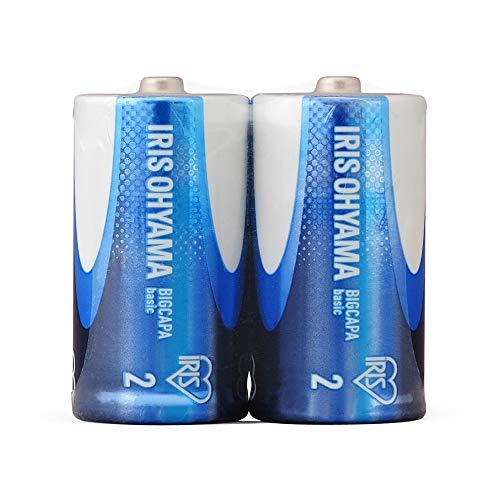 アイリスオーヤマ 乾電池 単2 アルカリ 2本パック BIGCAPA basic LR14Bb/2P