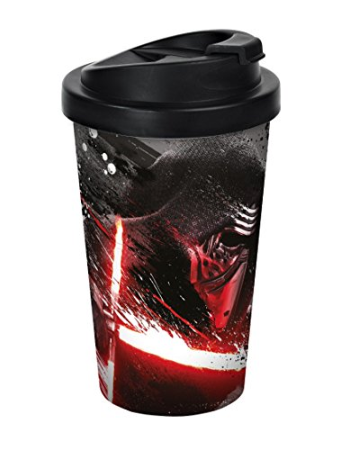 Star Wars, Episode VII, Kylo Ren Coffee to go Becher, Kunststoff, Mehrfarbig, 9 x 9 x 17 cm