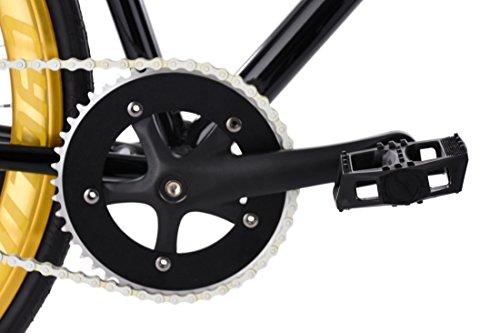 """KS Cycling Fixie Fitnessbike 28"""" Pegado schwarz-Gold RH 53 cm - 2"""