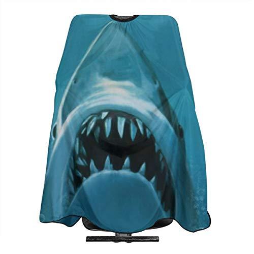 Shark Aanval Schilderij Behang Professioneel Haar Snijden Salon Nylon Cape Barber Cape Waterdicht Met Snap Sluiting 55
