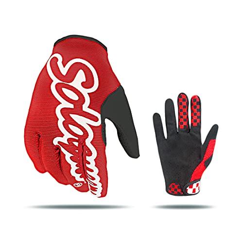SOLO QUEEN Nur Handschuhe für Radfahrer, atmungsaktiver Handschuh, für Fahrräder und Motorräder von Suburbio. L rot