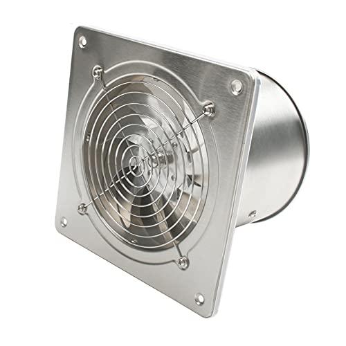 Ventilador extractor Ventilador de escape de escape de 6 pulgadas de alta velocidad Baño de la cocina de la ventana de la pared de la pared del acero inoxidable ventilador de la ventana de acero inoxi