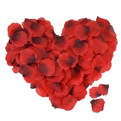ASANMU Petali di Rosa, 3000 Pezzi Petali di Fiori Finti Rossa, Petali di Rose Rosse Regali Decorazioni per San Valentine Decorazioni/Matrimonio/Anniversario/Proposta di Matrimonio/Compleanno/Casa Deco