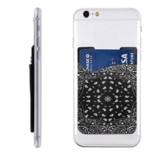 Inner-shop Mobiele kaart WalletPocket ID Credit Card MouwKleurrijke Sjaal Zwart Paisley Bandana Bandanna Abstract Artistieke Grens Helder