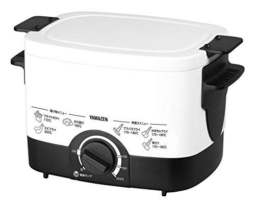 [山善] 電気フライヤー 揚げ物の達人 ホワイト YAC-120(W) [メーカー保証1年]