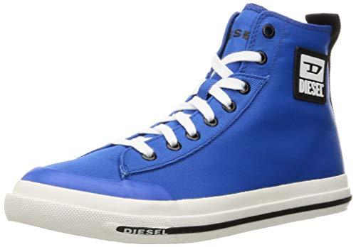 Diesel Zapatillas de deporte para hombre S-Astico Mid Cut, color Azul, talla 42.5 EU