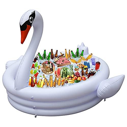 Ginkago New Piscina Inflable del Cisne Gigante Piscina para niños inflando el Centro de Juego para bebés