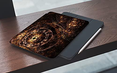 MEMETARO Funda para iPad 10.2 Pulgadas,2019/2020 Modelo, 7ª / 8ª generación,Fractal Artwork Abstracción de una máquina del Tiempo mecánica Smart Leather Stand Cover with Auto Wake/Sleep