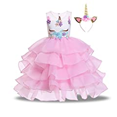 Material: Polyester+Organza+Tulle,skin friendly and the innerest material is soft cotton layer,no itchy for your princess. This amazing dress has 8 layers, 3 tiered organza layers, 3 mesh layers, 1 layer satin, 1 cotton layer with netting for more fu...
