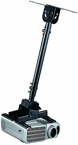 Elitech Universal Extendable Ceiling Projector Mount 22 to 32 inch Drop Height Adjustable, Extendable up to 71 inch with Optional Extension Pole (Sell Separately), Black