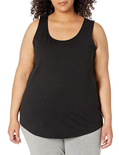 Just My Size Women's Plus-Size Shirt-Tail Tank Top