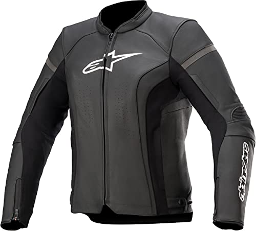 Alpinestars Stella Kira V2 - Chaqueta de piel para mujer, color negro, talla 40