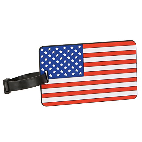 Travelon American Flag Luggage Tag One-Color, One-Color, One Size