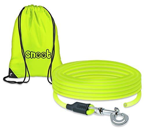 SNOOT 15m Rundleine, Schleppleine, Neon-Gelb, Hundeleine, Trainingsleine, sehr stabil, schmutz- und wasserabweisend