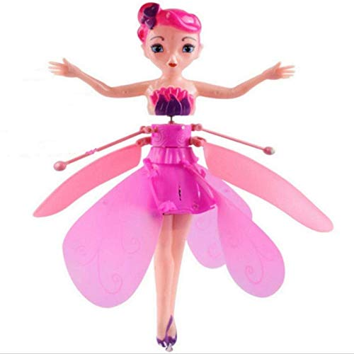 TTCPUYSA Flying Fairy Doll for Girls,Flying Princess Ballet Dolls Toy, Automatic Induction Flying Elf Magic Fairy Doll Toy Gift (Pink)