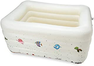 BEAGHTY Inflatable Bath Tub for Shower, Rectangular Inflatable Family Paddling Swimming Pool Indoor & Outdoor for Kids and Adults | 140 * 70Cm