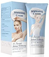 Whitening cream for body: back, neck, underarms, elbows and footsteps. The light texture can effectively cover black spots and pores and make the skin more shiny. Our powerful Lightening cream can easily cover difficult to hide and sensitive parts, s...