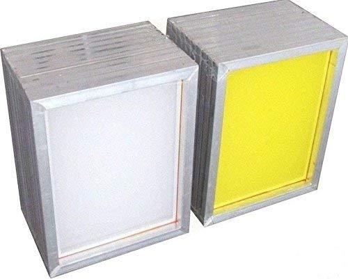 2 Pack Silk Screen Printing Screens 2030 cm Aluminum Frames- 300 Yellow Mesh YLZ