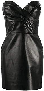 LUST FOR Leather - Mini abito da donna in pelle nera