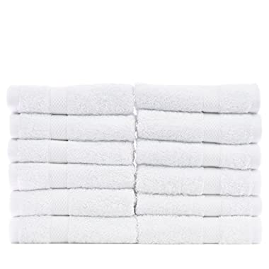 Chakir Turkish Linens Turkish Cotton and Bamboo Rayon Wash Cloth (Set of 12) - White