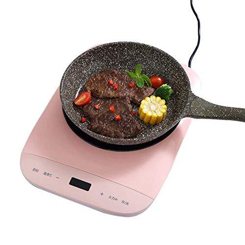NLRHH Cocina de inducción multifunción eléctrica Cocina de Olla Caliente Smoking Fry Smart High Power Energy Ahorro de la Placa de la Placa de la Placa de la Placa Peng (Color : Pink)