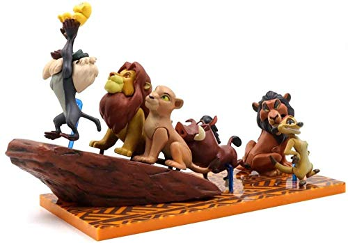 Anime Characters Lion King Simba Action Figure Doll Toy 3-6Cm Pvc Pumbaa Timon Models Collections Children Gifts