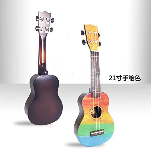 BZAHW Ukelele Ukelele Ukelele Guitarra pequeña de 21 Pulgadas de ...