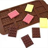 ABRC De Silicona del Molde 12 del Chocolate Moldes Pasta de azúcar Pastelería Candy Bar Modo de Molde de la Torta Decoración de Caramelo Accesorios para el horneado