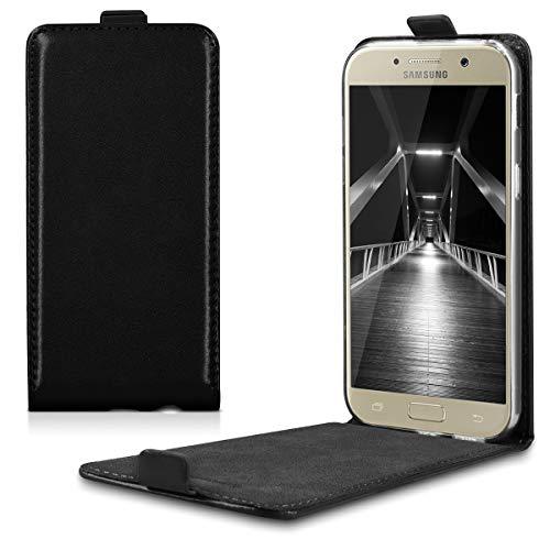kwmobile Schutzhülle kompatibel mit Samsung Galaxy A5 (2017) - Hülle Handy - Flip Hülle Handyhülle Schwarz