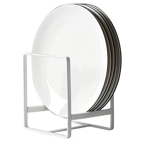 Organizador de Platos Vertical 1 Pieza Escurridor de Vajilla de Metal Soporte para bandejas de Horno en Metal 12*14cm Organizador de Sartenes y Tapaderas para Camper de Armario de Cocina(Blanco)