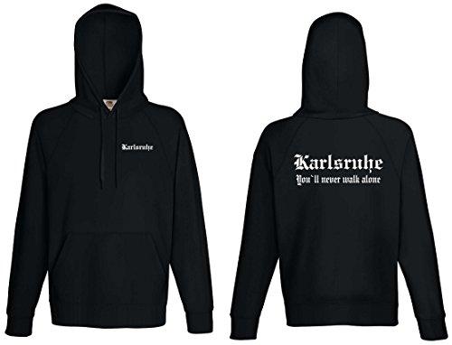 world-of-shirt Karlsruhe Herren Kapuzensweat Ultras