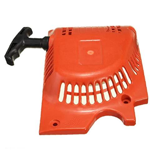 Ruluti Retroceso Comienzo del tirón de Arranque Rojo para 4500 5200 5800 45cc 52cc 58cc China de la Motosierra Tarus Timbertech Kiam Sherwood Sanli