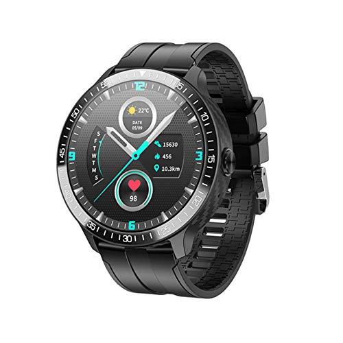 ZWW Music DIAL MONITOREO DE Temperatura Watch MT16 Pulsera Inteligente Pantalla De Color Círculo Completo Toque Completo Llamada Bluetooth,A