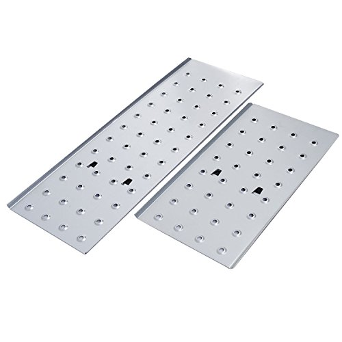 Comie 330lb 12.5ft Multi Purpose Aluminum Folding Step Ladder Foldable Lightweight Scaffold Ladder W/2 Plate