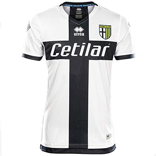 Errea MC Parma Fútbol 1^MG Shop 19/20 - Camiseta Deportiva Unisex para niños, Unisex niños, Camiseta Deportiva, Smod7C0031990Prf, Blanco/Negro, XXS