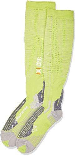 X-SOCKS Respirantes Accumulator de compétition pour Adulte Multicolore Green Lime/Pearl Grey 39/42 S