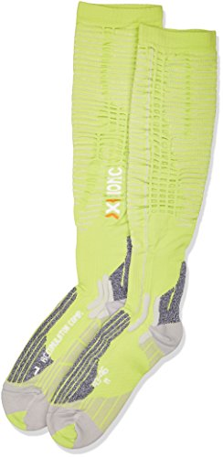 X Bionic - Effektor Xbs Accumulator Competition, Calze Sportive, Verde (Green Lime/Pearl Grey), 43/46 S (Polpaccio 32-38 cm)