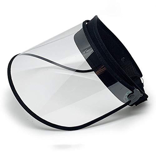 LMWB beschermende honkbaldoppen voor, verwijderbare en herbruikbare transparante maskers om het gezicht te beschermen, speeksel te voorkomen Zwart