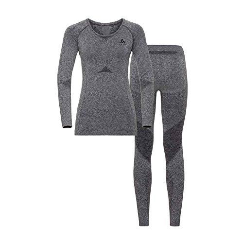 Odlo Damen Performance Evolution St Thermo Set, Grey Melange, XL