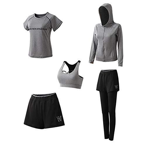 Aoccker Sport Yoga Pak Yoga Vest Hoge Taille Broek Fitness Snelle Droge Yoga Hardlopen Training Pilates T-Shirts, Broek, Tops En Korte Mouwen