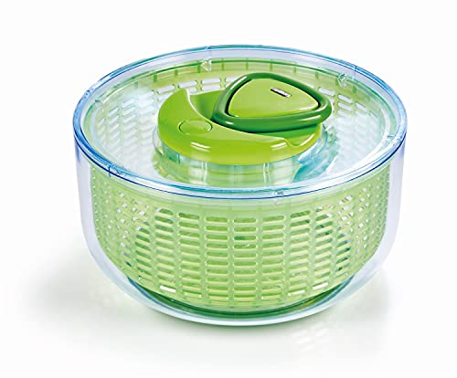 Zyliss Easy Spin Salad Spinner, Large, Green/White