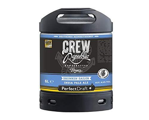 Bier PerfectDraft 1 x 6-Liter Fass Bier - Zapfanlage für Zuhause. Inklusive 5euros Pfand. (Crew Republic Drunken Sailor)