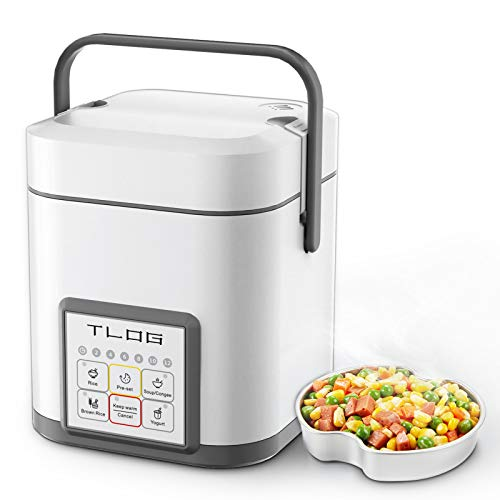 TLOG Mini Rice Cooker, 2 Cups Uncooked (0.6L) Portable Rice Cooker, Food Steamer, Travel Rice Cooker...