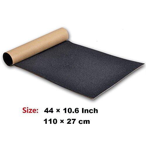 """ZUEXT 11/"""" x 50/"""" Clear Skateboard Grip Tape Waterproof Scooter Grip Tape Longbo"""