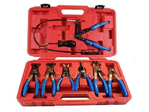 Preisvergleich Produktbild Professional 9 Stück Schlauchklemmen-Zange Werkzeug-Set AU043