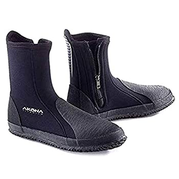 AKONA 6.5 mm Tall Neoprene Boot with Protective Toe and Heel Cap Ideal for Snorkeling Scuba Diving Kayaking SUPing and Hiking Around Water and Rocks - 9