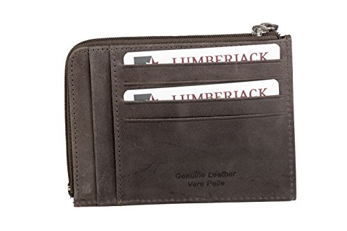 portafoglio lumberjack Portafoglio uomo LUMBERJACK moro in pelle tasca porta carte con zip A5491